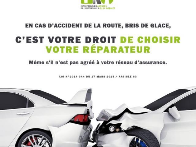 LOI HAMON : le libre choix du réparateur en cas de sinistre auto